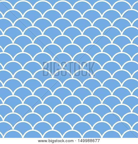 Vector seamless winter pattern with snowbank. Simple background.