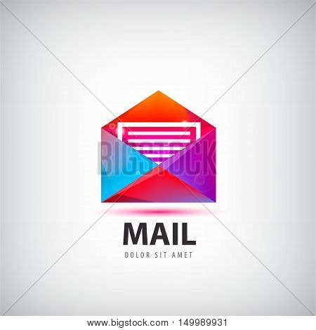 Vector colorful mail logo, icon. Envelope e-mail sign design