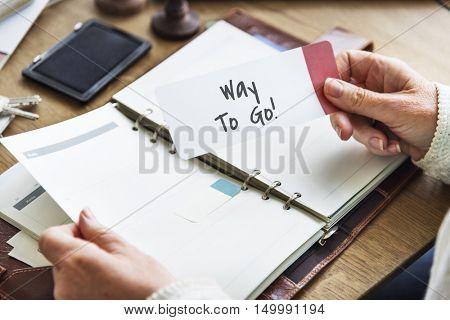Way To Go Excellent Concept