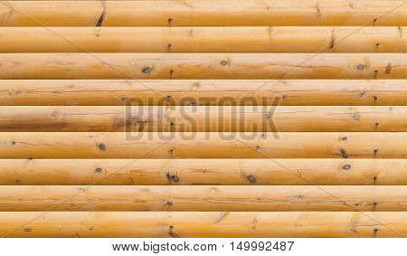 Wooden Wall Made Of Logs, Texture