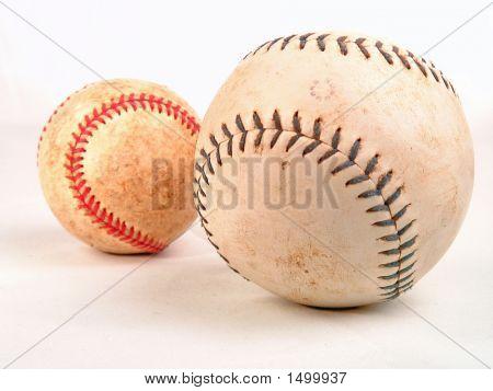 Baseball Softball On White