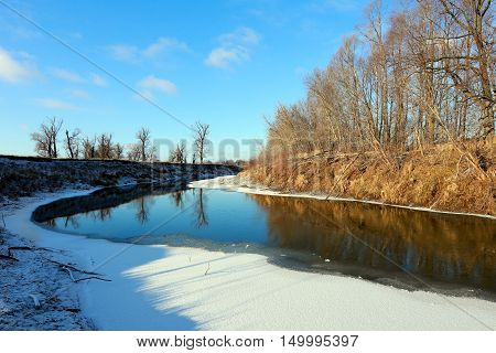 First Snow On The River