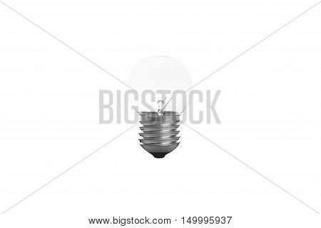 tungsten light bulb isolated on white background.