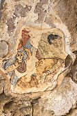 Fresco in the ancient city of Salamis in Turkish Cyprus poster