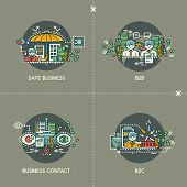 Safe business, B2B, business contact, B2C on gray background poster