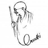 illustration of India background for 2nd October Gandhi Jayanti poster