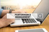 PERFORMANCE MANAGEMENT SEARCH WEBSITE INTERNET SEARCHING  business man work hard poster