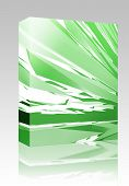 Software package box Abstract geometric illustration, smooth chrome flying panels poster