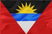 Flag of Antigua national country symbol illustration wavy fabric poster