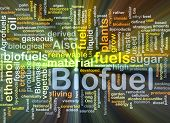 Background concept illustration of biofuel renewable fuel glowing light poster