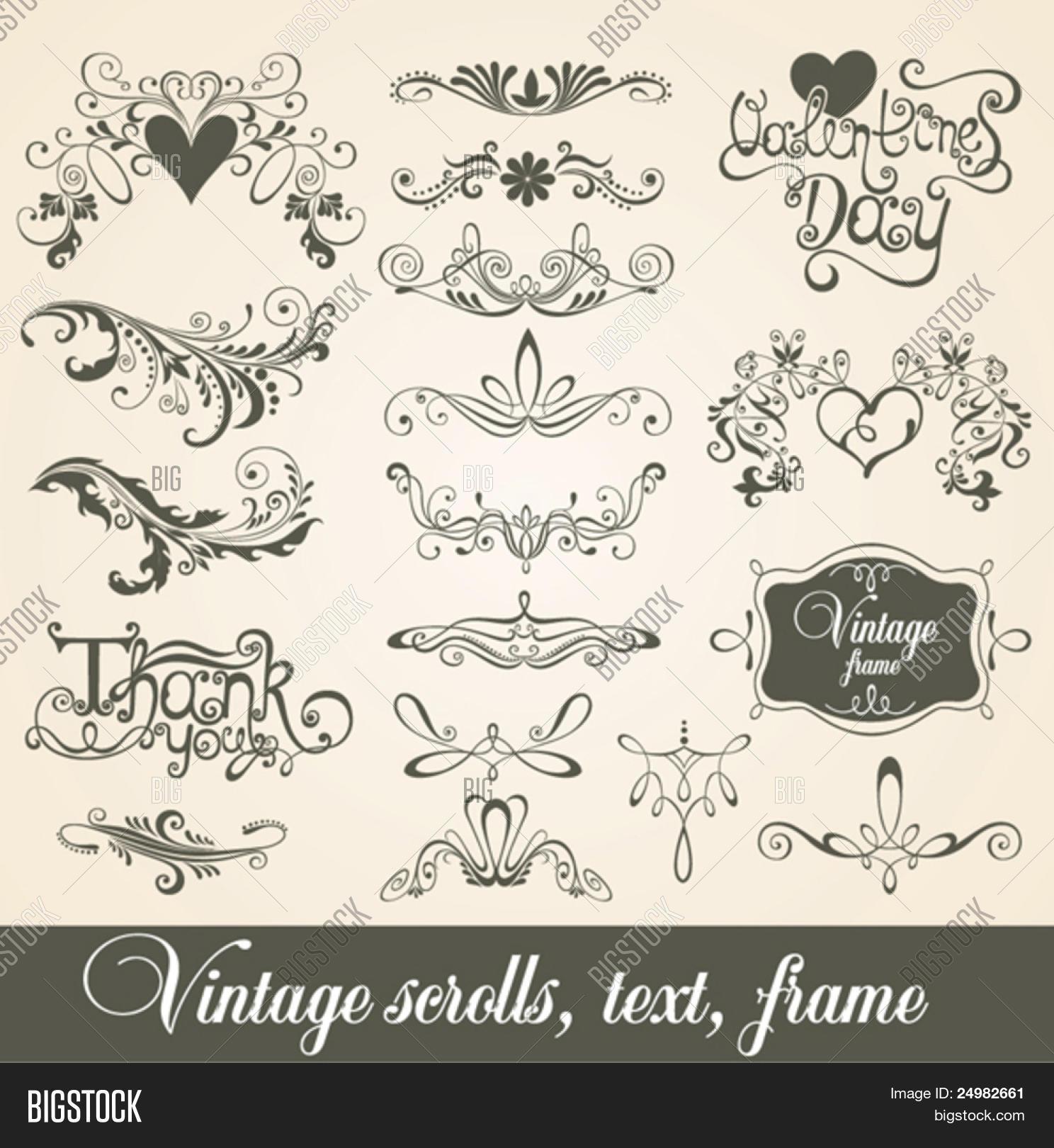 Vintage Scrolls, Text Vector & Photo (Free Trial) | Bigstock