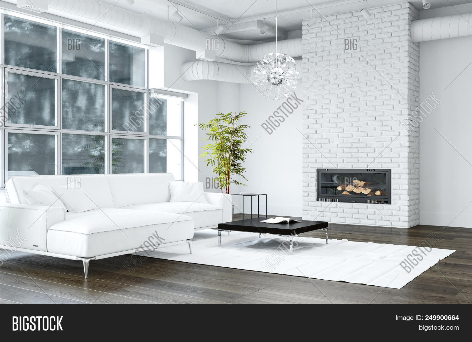 Magnificent White Living Room Image Photo Free Trial Bigstock Uwap Interior Chair Design Uwaporg