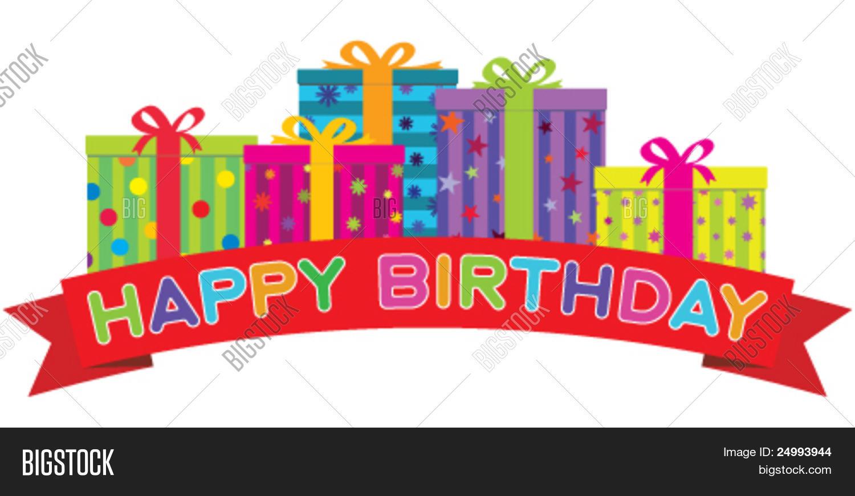 Vector y foto Banner De Feliz Cumpleaños Rojo | Bigstock