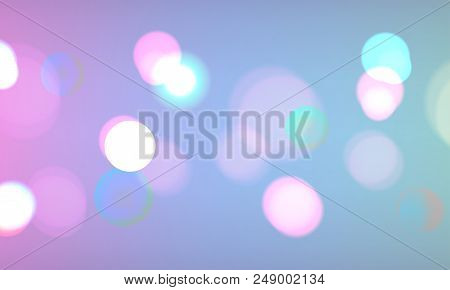 Stock Vector Illustration Defocused Bokeh Photo Effect. Christmas Light. Blurred New Year Background