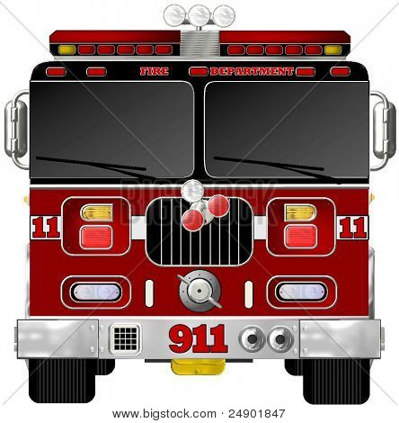 Fire Engine Illustration