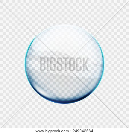 Stock Vector Illustration Glass Transparent Sphere. Ball Isolated On A Transparent Background. Eps10