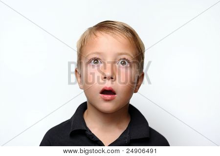 Boy Looking Surprised