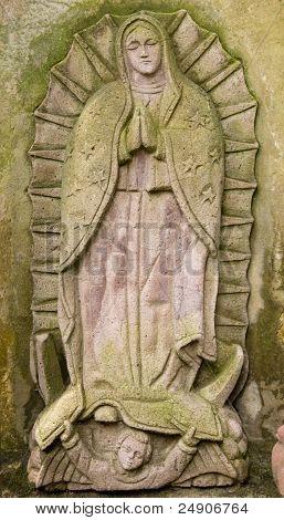 Stone Virgin Guadalupe