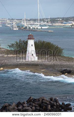 Cruising Away From Nassau Harbour, The Bahamas