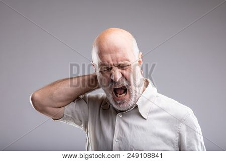 Mature Man Feeling Bad For Headache