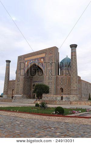 Sher Dor Madrasah On Registan Square