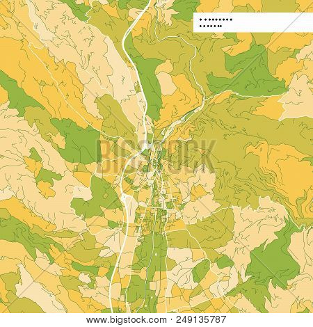 Colorful Map Of Wolfsberg, Austria. Background Version For Infographic And Marketing Projects. This
