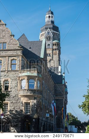 Town Hall In Remscheid In Good Weather In The Evening Sun