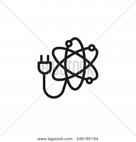 Atomic Power Line Vector Photo Free Trial Bigstock