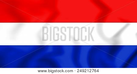 3d Flag Of The State Of Slovenes, Croats And Serbs. 3d Illustration.