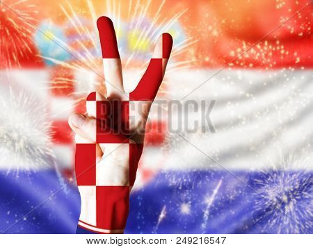 victory for croatia football fans celebrating