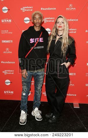 PARK CITY, UT - JAN 21: Actor Jaden Smith (L) and director Crystal Moselle attend the premiere of
