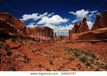 Park Avenue at Arches National Park, Utah