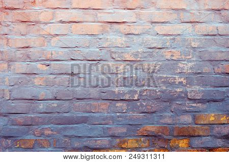 Old Brick Wall Texture. Grunge Brick Wall Background. Brick Wall Motifs . Texture Stone Surface Back