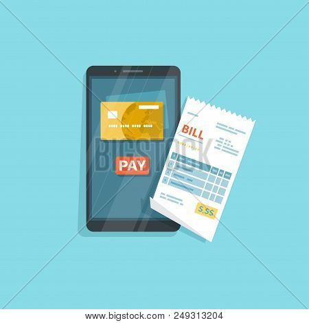 Mobile Payment For Goods, Services, Shopping Using Smartphone. Online Banking, Pay With Phone. Credi