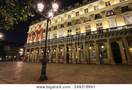 Paris, France - July 09, 2018: The French Theater- Comedie Francaise In French , Oldest Still-active
