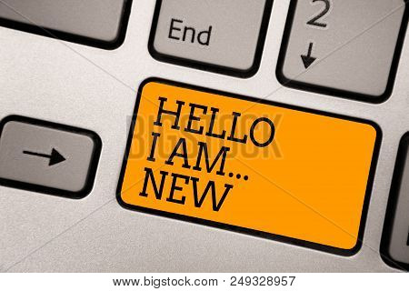 Handwriting Text Writing Hello I Am... New. Concept Meaning Introduce Yourself Meeting Greeting Work