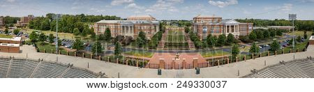 July 13, 2018 - Charlotte, North Carolina, USA: Aerial views of the University of North Carolina at Charlotte.  Established in 1946, UNCC is a growing campus with over 29,000 students.