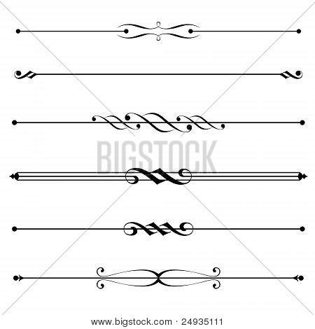 dekorative Elemente, Rahmen und Seite Regeln