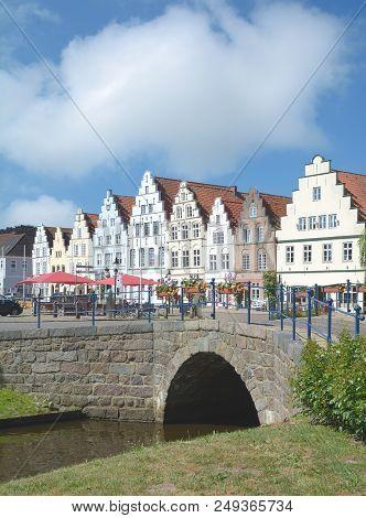 Market Place Of Friedrichstadt In North Frisia,schleswig-holstein,germany