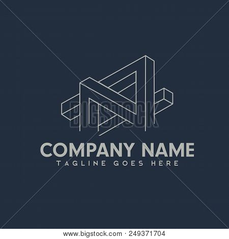 3d Abstract Logotype, The Concept Of Flat Lifeline Funds, Cool Logo For Industry And Construction Th