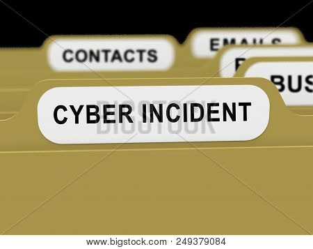 Cyber Incident Data Attack Alert 3D Rendering