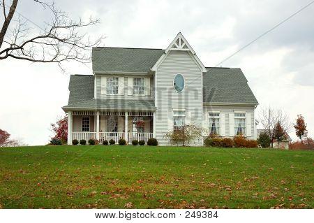 Farm House In Autumn