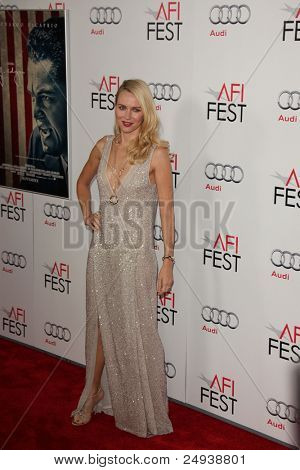 """LOS ANGELES - NOV 3:  Naomi Watts arrives at the AFI FEST 2011 Presented By Audi - """"J. Edgar"""" Opening Night Gala at Grauman's Chinese Theater on November 3, 2011 in Los Angeles, CA"""