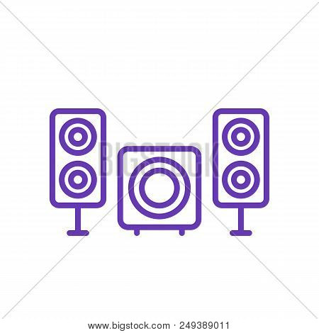 Subwoofer And Speakers Icon, Eps 10 File, Easy To Edit