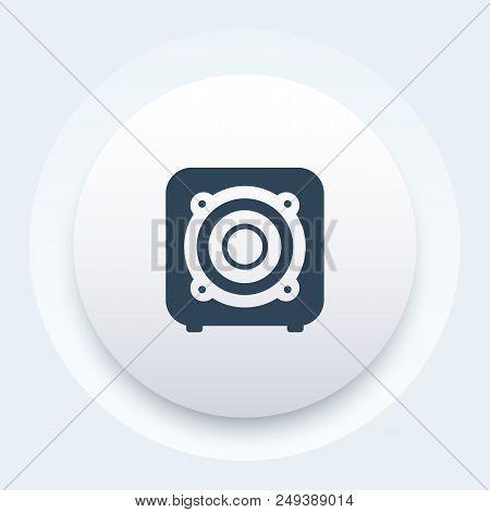 Subwoofer, Audio Speaker Icon, Eps 10 File, Easy To Edit
