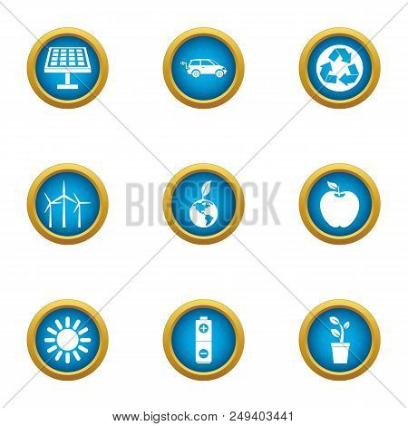 Radiant Icons Set. Flat Set Of 9 Radiant Vector Icons For Web Isolated On White Background