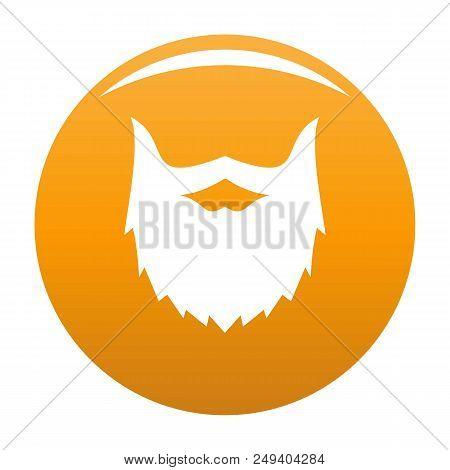 Villainous Beard Icon. Simple Illustration Of Villainous Beard Vector Icon For Any Design Orange