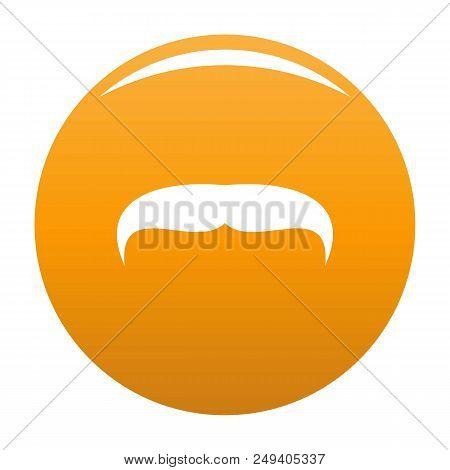 Villainous Mustache Icon. Simple Illustration Of Villainous Mustache Vector Icon For Any Design Oran