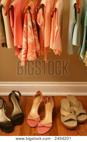 Spring Colored Clothing And Shoes