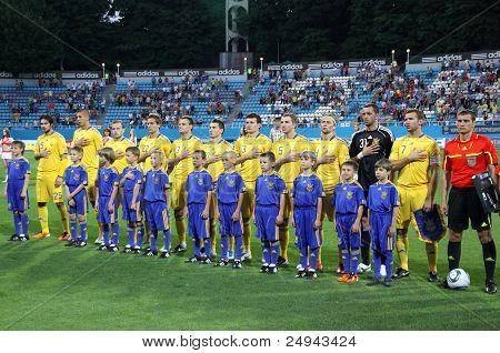 Ukraine National Football Team Players Sing The Hymn